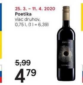 Poetika, 0,75 l