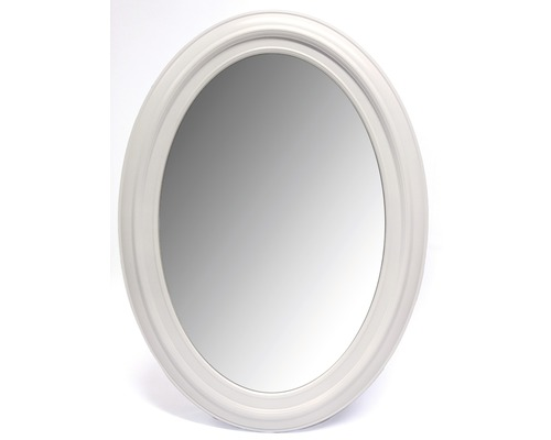 Zrkadlo Lugano biele oválne 53x73 cm