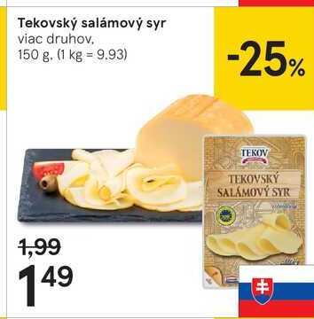 Tekovský salámový syr, 150 g