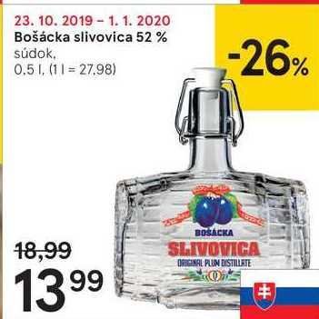 Bošácka slivovica 52 %, 0,5 l