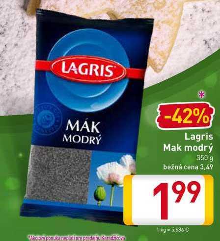 Lagris Mak modrý 350 g
