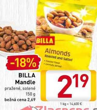 BILLA Mandle pražené 150 g
