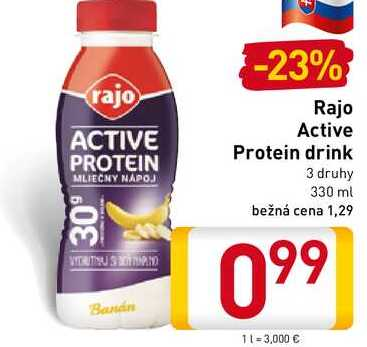 Rajo Active Protein drink 330 ml