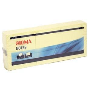Bloček 50x40mm žltý 100listov SIGMA 6ks