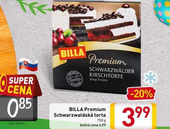 BILLA Premium Schwarzwaldská torta 750 g