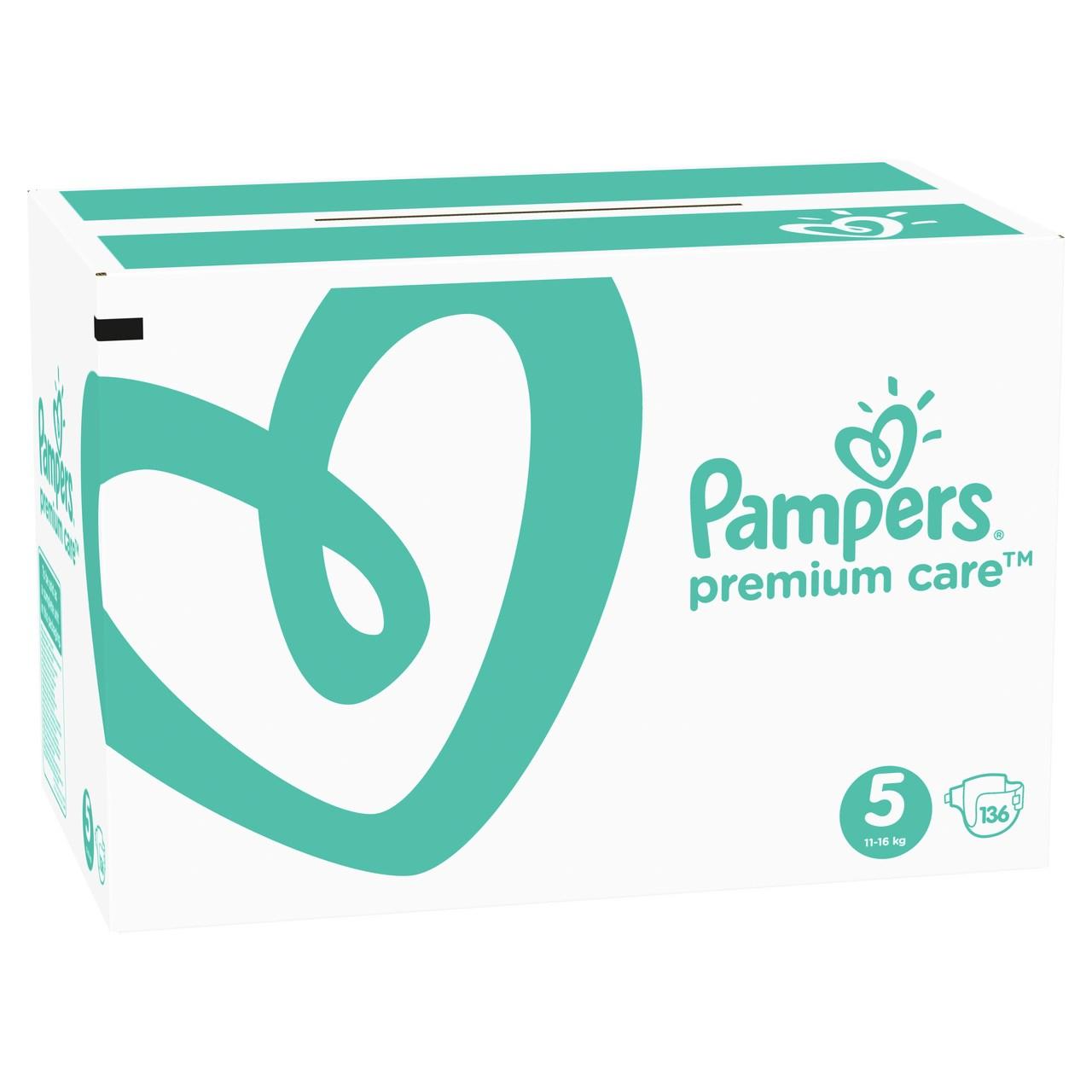 Pampers Premium Care S5 mesačné balenie detských plienok 1x136 ks