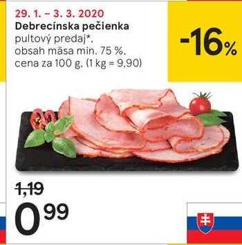 Debrecínska pečienka, 100 g