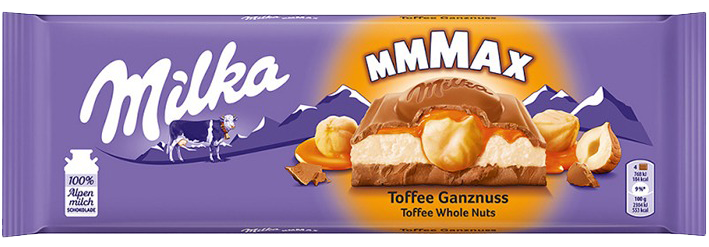 Milka Toffee Whole Nuts, 300 g