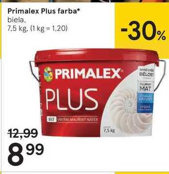 Primalex Plus farba, 7,5 kg