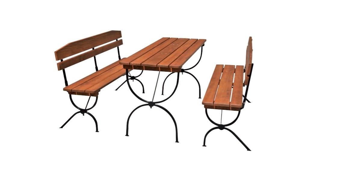 Záhradná skladacia zostava Linz 2x lavica 180x36x47,5cm +stôl 180x60x79cm 1ks