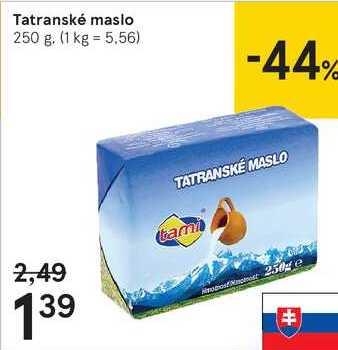 Tatranské maslo, 250 g