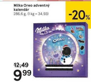 Milka Oreo adventný kalendár, 286,5 g