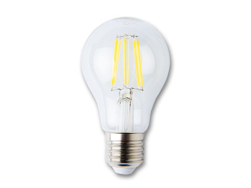 LED žiarovka s vláknom 6W-E27 studená