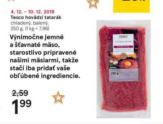 Tesco hovadzí tatarák, 250 g