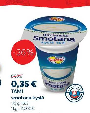 Tami kyslá smotana, 175 g