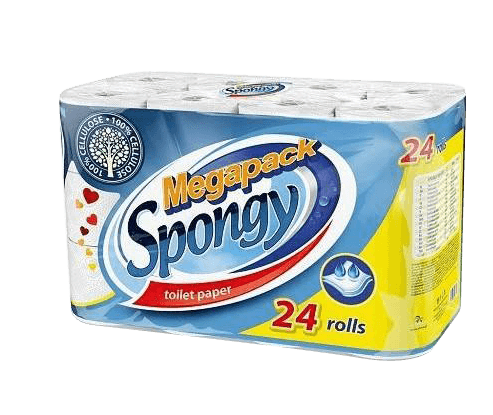 Toaletný papier Spongy, 24 ks