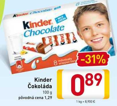 Kinder čokoláda 100 g