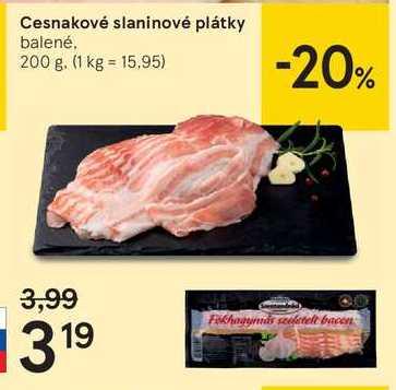 Cesnakové slaninové plátky, 200 g