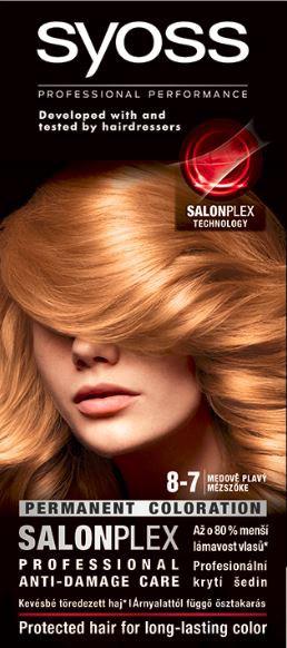 Syoss color 8 - 7 medový blond 1x1 ks