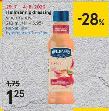 Hellmann's dressing, 210 ml