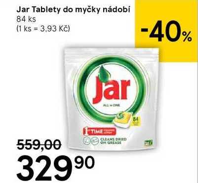 Jar Tablety do myčky nádobí, 84 ks