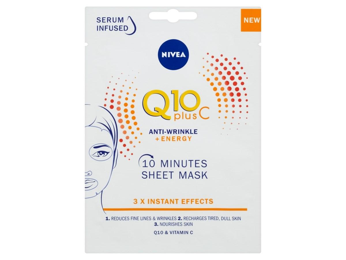 Nivea Q10 Plus C Energy textilná maska 1x1 ks