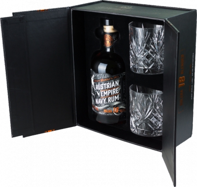 Austrian Empire Navy Rum Solera 18YO 40% 0,70 L + 2 poháre