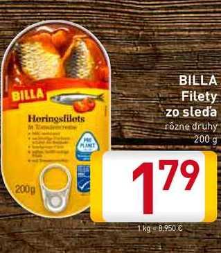 Billa FIlety zo sleďa 200 g