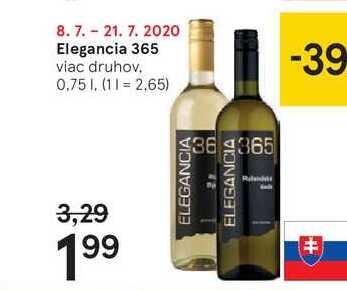 Elegancia 365, 0,75 l