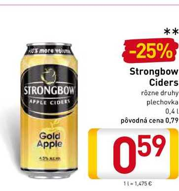 Strongbow Cider 0,4 l