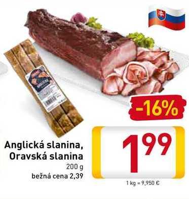 Anglická slanina 200 g