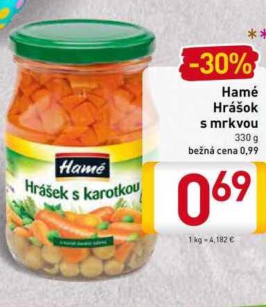 Hamé hrášok s mrkvou 330 g