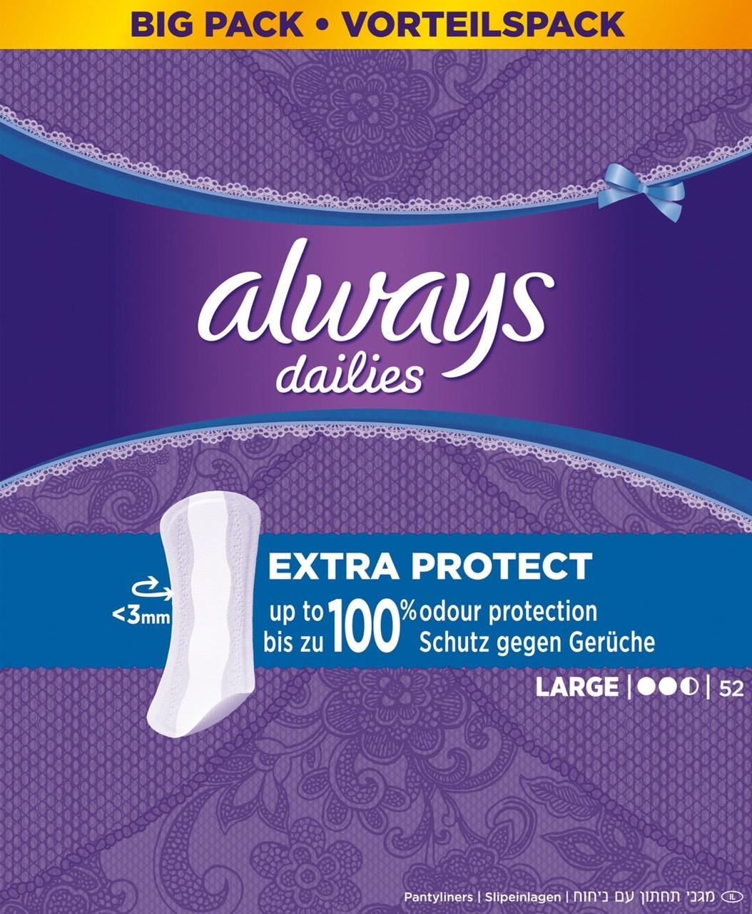 Always liner long single dámske vložky 1x52 ks