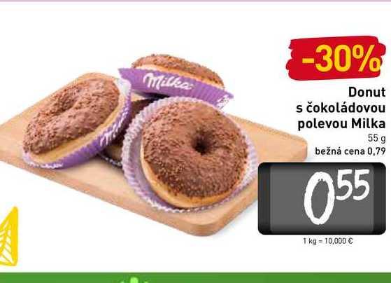 Donut s čokoládovou polevou Milka 55 g