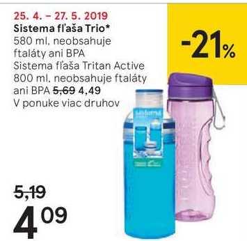 Sistema fľaša Trio, 580 ml
