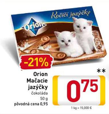 Orion Mačacie jazýčky 50 g