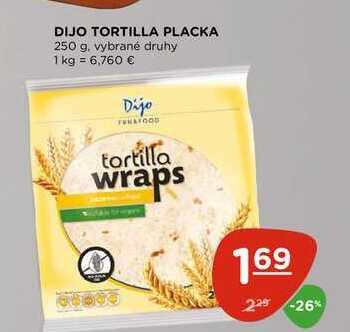 DIJO TORTILLA PLACKA 250 g