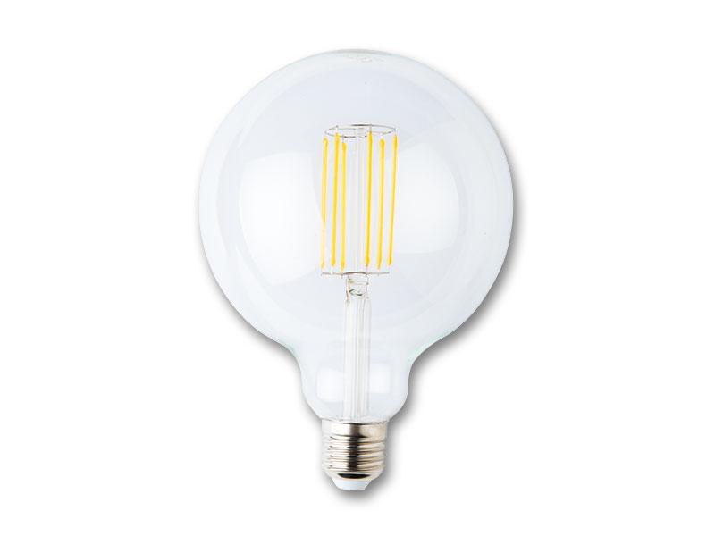LED guľa s vláknom 8W-E27 teplá