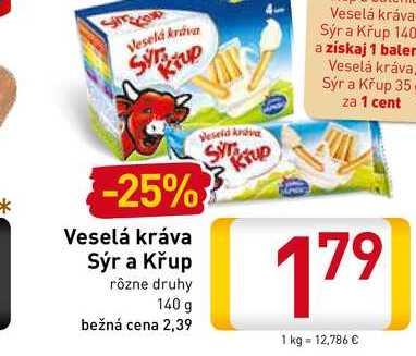 Veselá Kráva Sýr a Křup  140 g