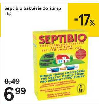 Septibio baktérie do žúmp, 1 kg