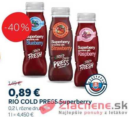 RIO COLD PRESS Superberry, 0,2 l