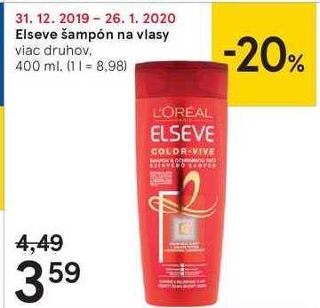 Elseve šampón na vlasy, 400 ml