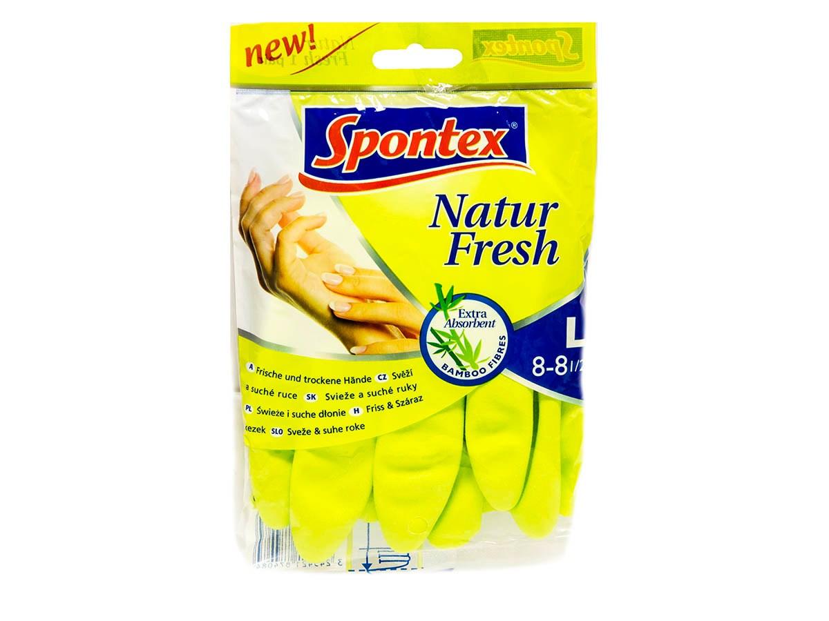 Rukavice natur fresh L Spontex 1ks
