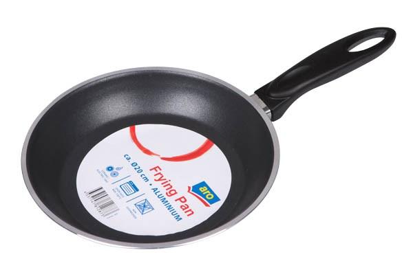 Panvica hliník 20cm čierna ARO 1ks