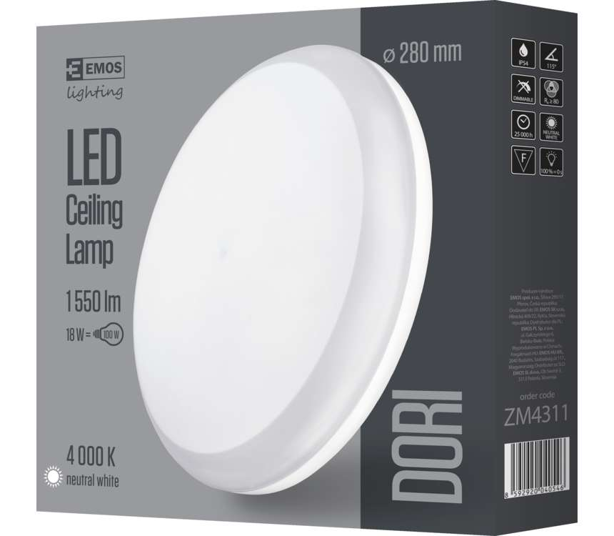 LED prisadené svietidlo