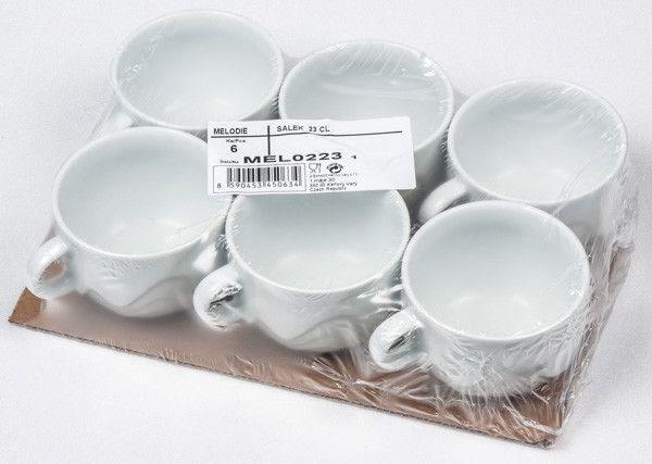 Šálka na čaj Melódia 230ml 6ks