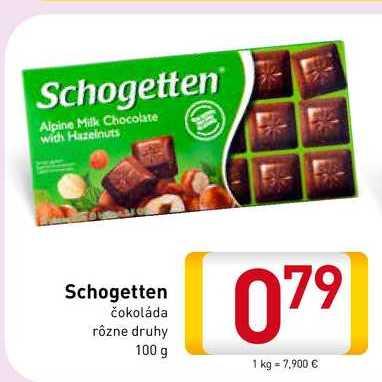 Schogetten čokoláda 100 g