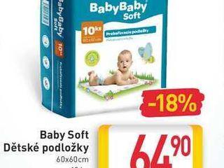 obrázek Baby Soft Dětské podložky 60x60cm 10 ks