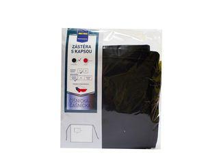 Zástera krátka čierna s vreckom veľ.1 50x90cm Metro Professional 1ks