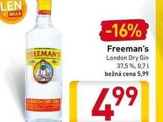 Freeman's London Dry Gin  0,7 l